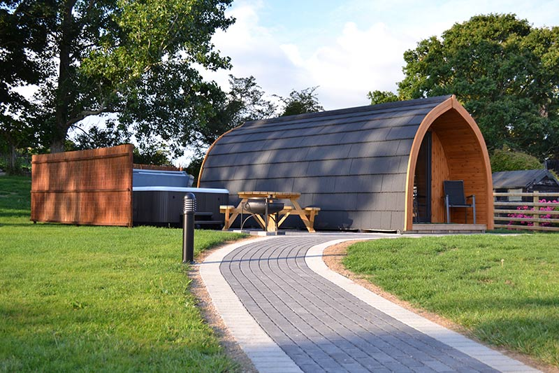 Glamping Pods in North Wales near Conwy at Wern Farm