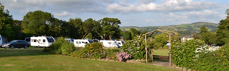 wern farm touring caravan park in north wales