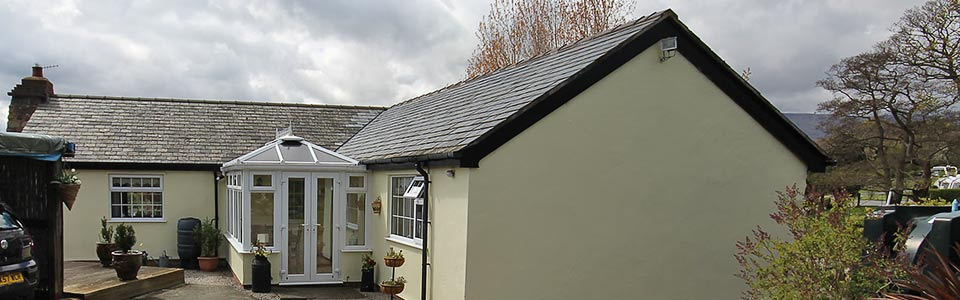 self catering holiday cottage near Conwy North Wales at Wern Farm